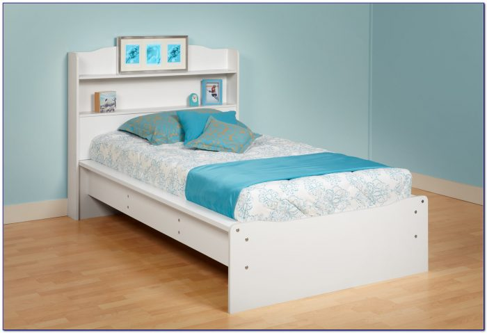 Twin Bed Bookcase Headboard Solid Wood