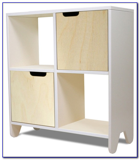 White Bookcase Toy Storage