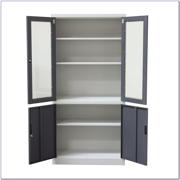 White Bookcase With Cabinets