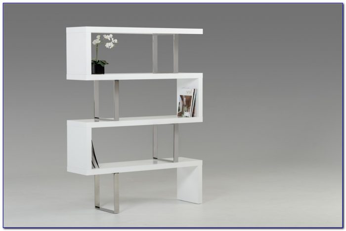 White Contemporary Bookshelves