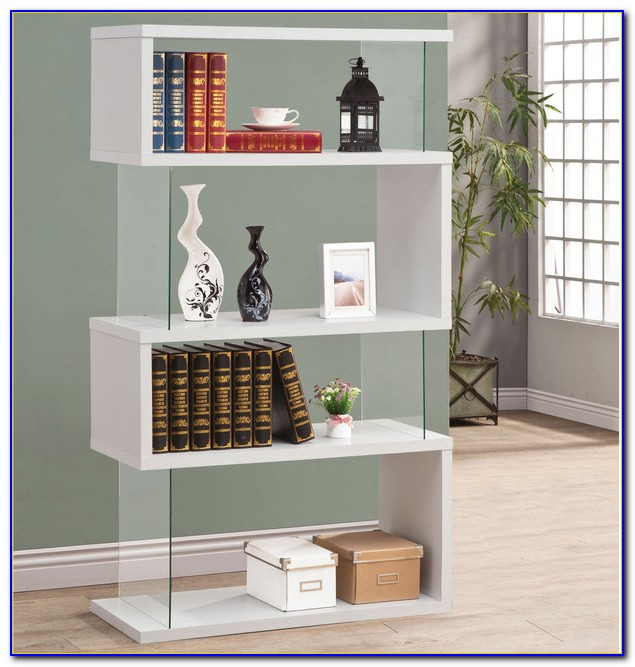 White Contemporary Shelving Units