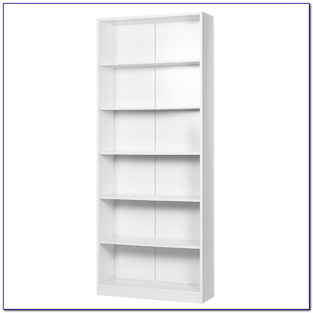 White Six Shelf Bookcase