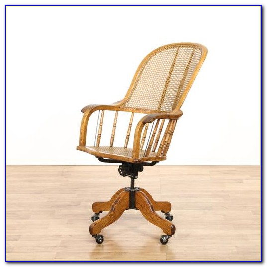 Wicker Swivel Office Chair Bookcase Home Design Ideas