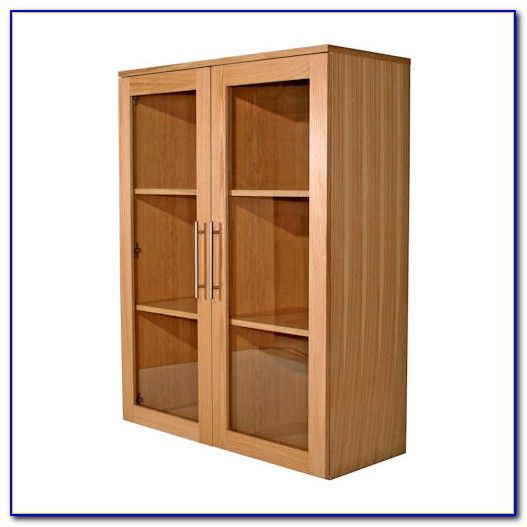 Wide Bookshelf With Doors