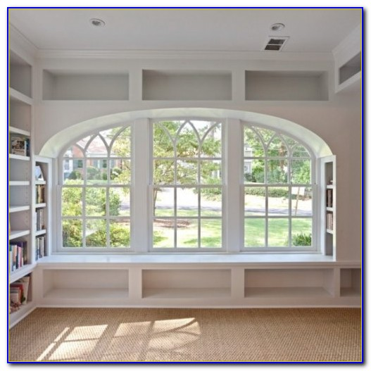 Window Seat Bookshelves