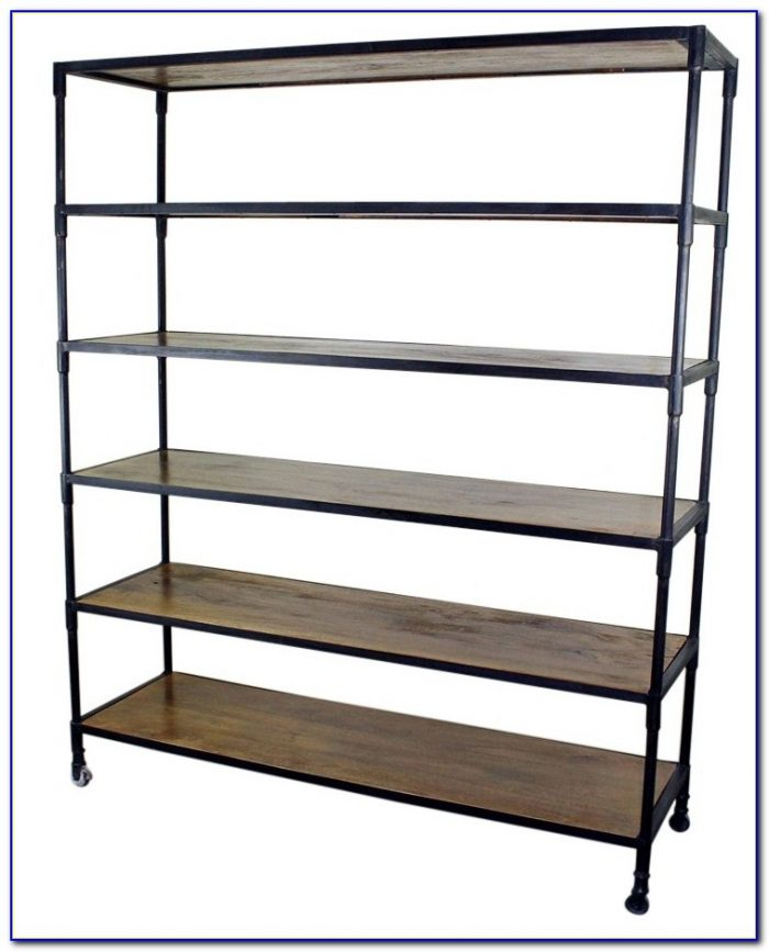 Wood And Iron Bookshelf