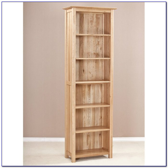 Wood Narrow Bookshelf