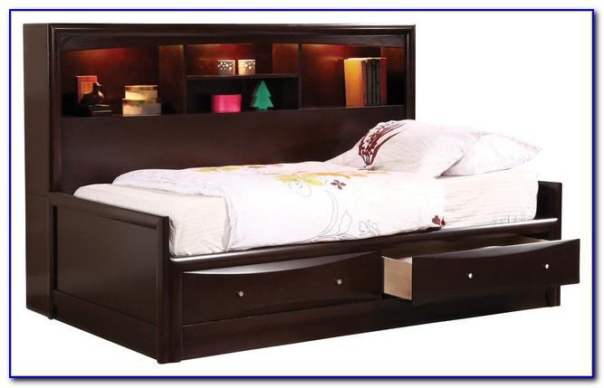 Zayley Twin Bedside Bookcase Daybed