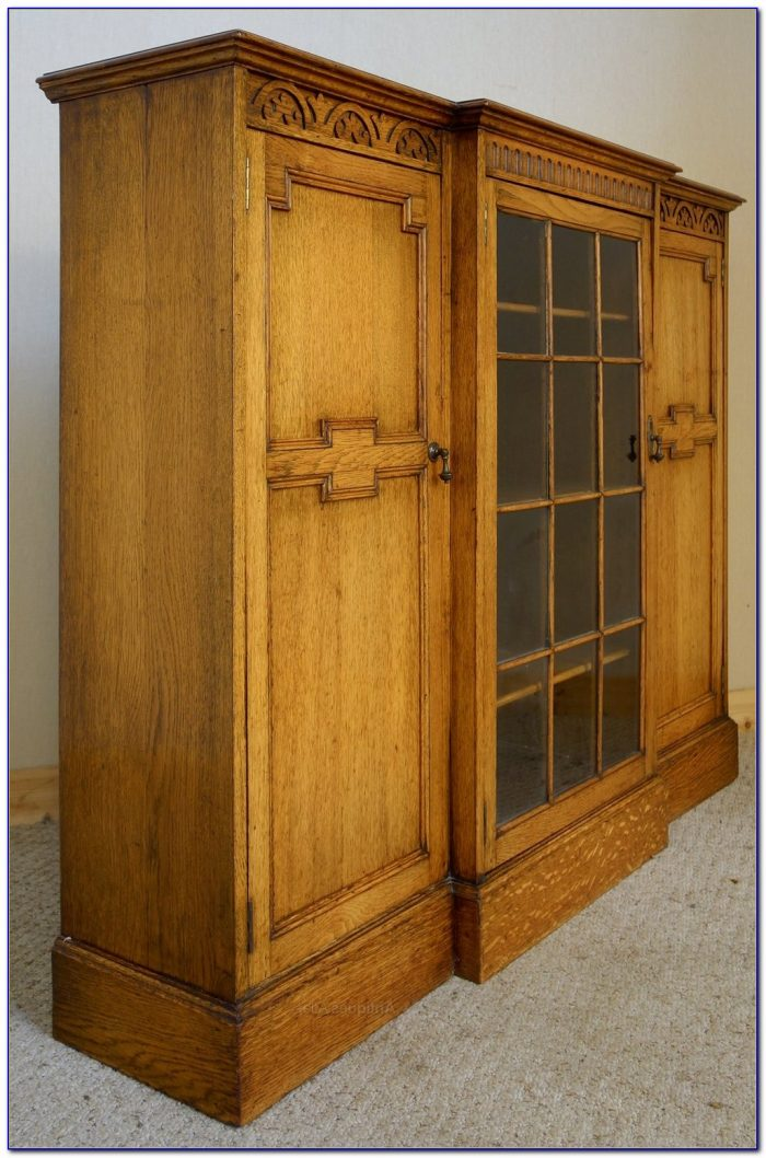 Antique Golden Oak Bookcase