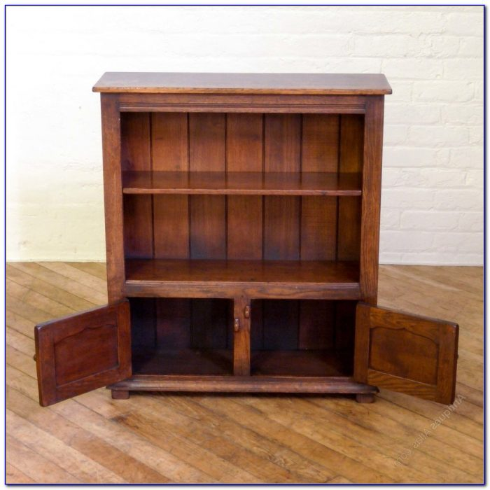 Antique Oak Bookcase Desk