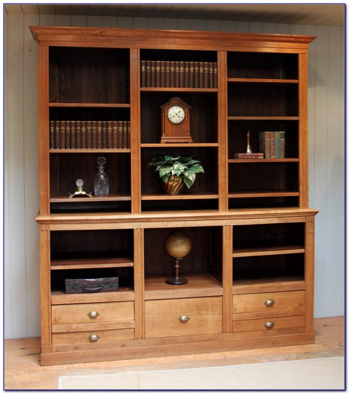 Antique Oak Library Bookcase