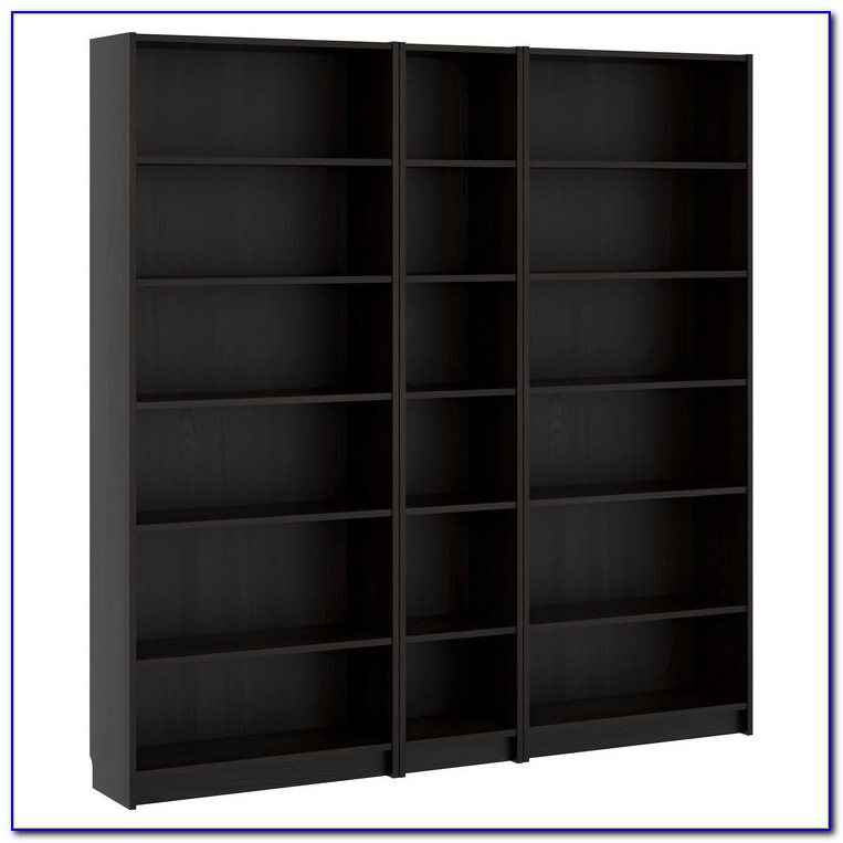Black Billy Bookcase With Glass Doors