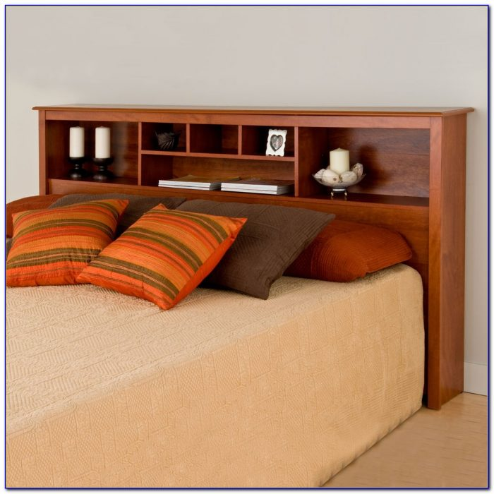 Bookcase Headboard Bed With Drawers
