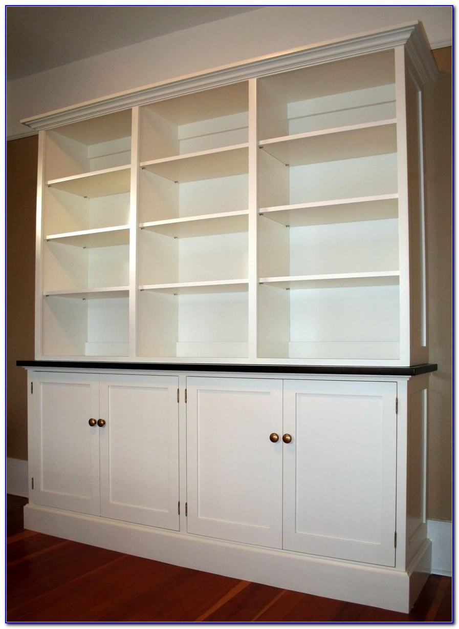 Bookcase With Cupboards Under