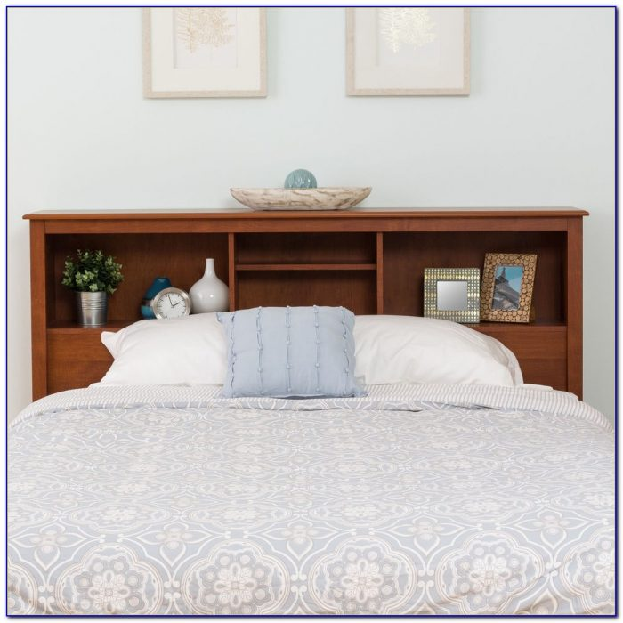 Bookshelf Headboard Bed Frame