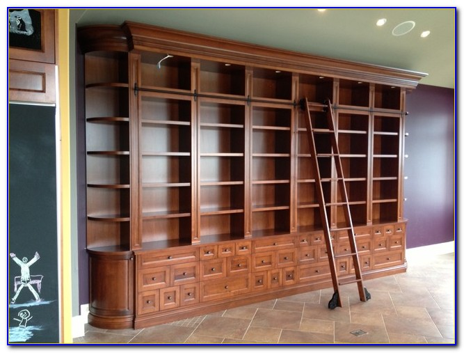 Bookshelf Rolling Ladder