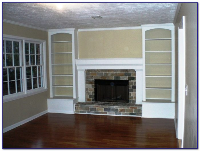 Brick Fireplaces With Built In Bookcases