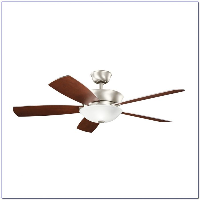 Brushed Nickel Ceiling Fan With Led Light