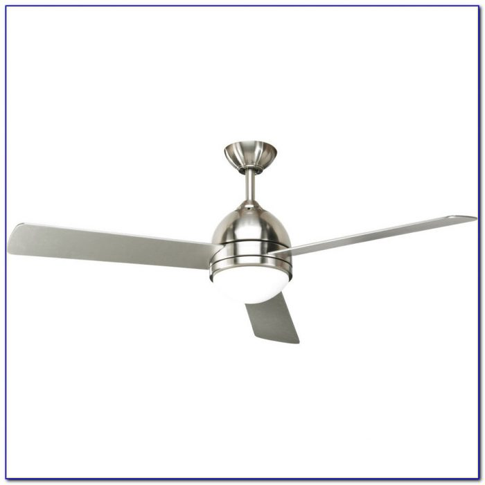 Brushed Nickel Ceiling Fans With White Blades