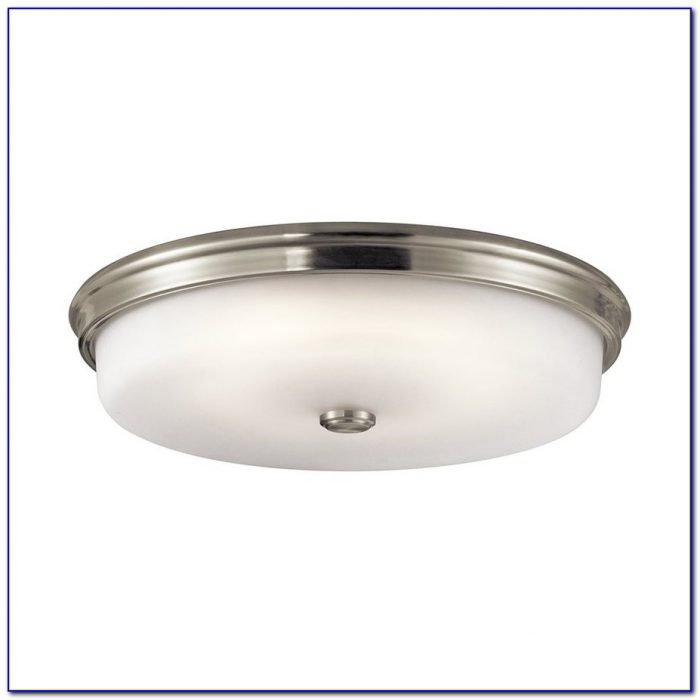 Brushed Nickel Ceiling Fixture