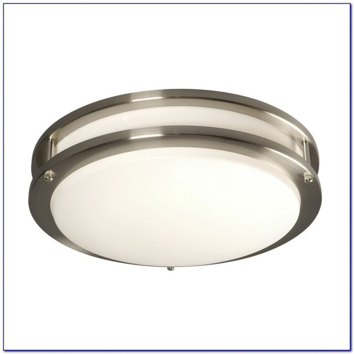 Brushed Nickel Ceiling Light Plate