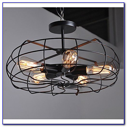 Cage Style Ceiling Fan With Light Ceiling Home Design