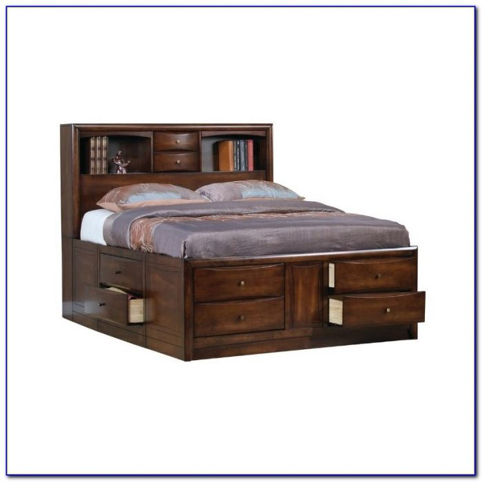 Captain's Bookcase Bed With Storage