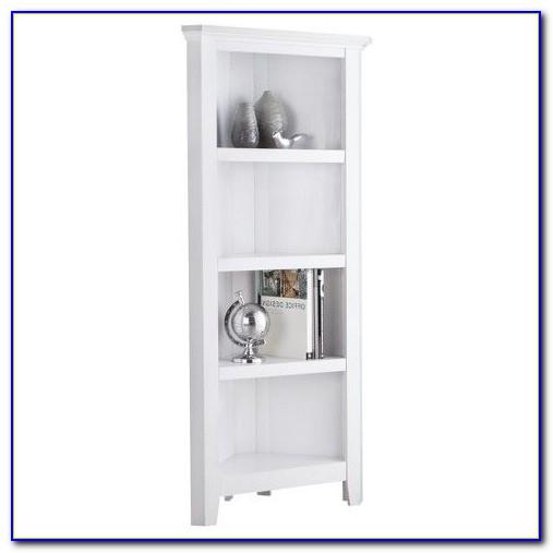 Carson Corner Bookcase White