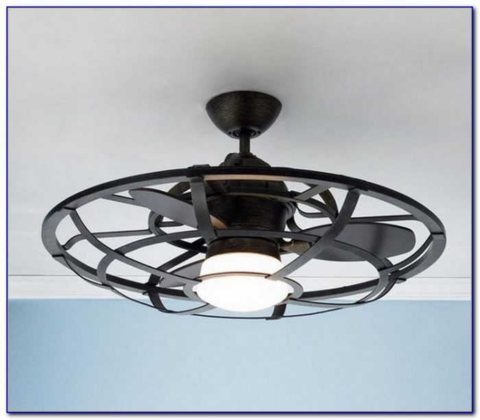 Ceiling Fan With Cage Light