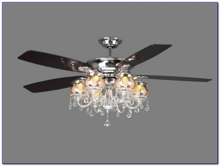 Ceiling Fan With Chandelier Crystals
