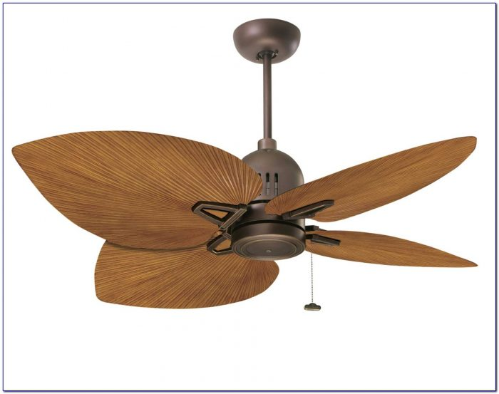 Ceiling Fan With Palm Leaf Blades