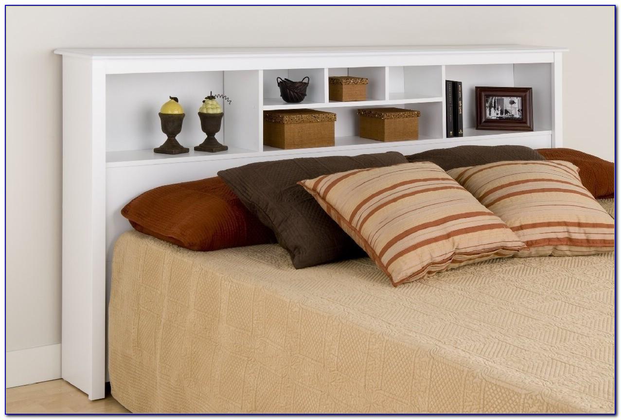 Cherry 6 Drawer King Size Platform Storage Bed & Bookcase Headboard
