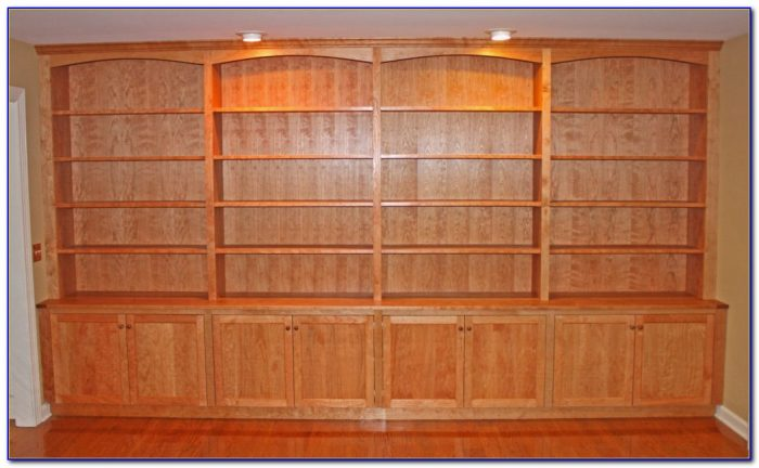 Cherry Bookshelves With Glass Doors
