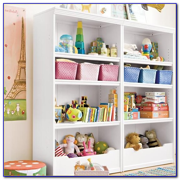 Childrens White Wood Bookcase
