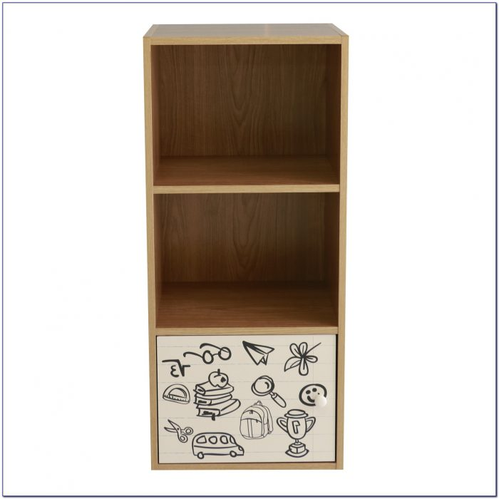 Childrens White Wooden Bookcase