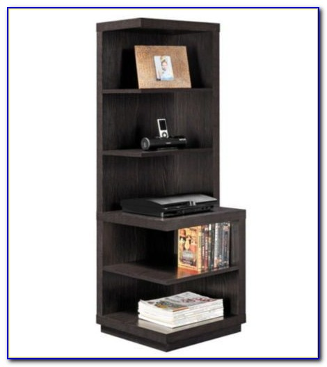Contemporary Corner Bookshelves