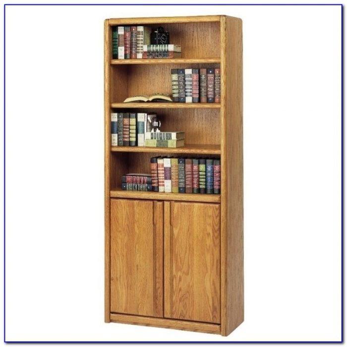 Contemporary Light Oak Bookcases