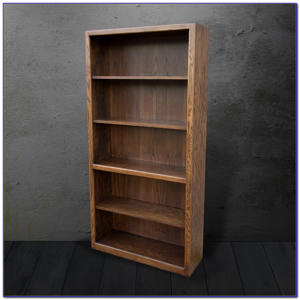 Contemporary Oak Bookcase Large