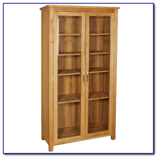 Contemporary Oak Bookcase Tall