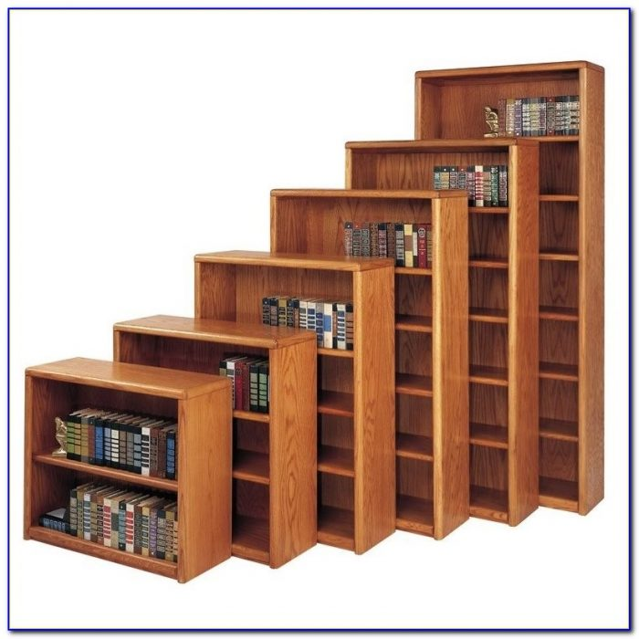Contemporary Solid Oak Bookcase