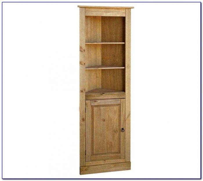 Corona Pine Corner Bookcase