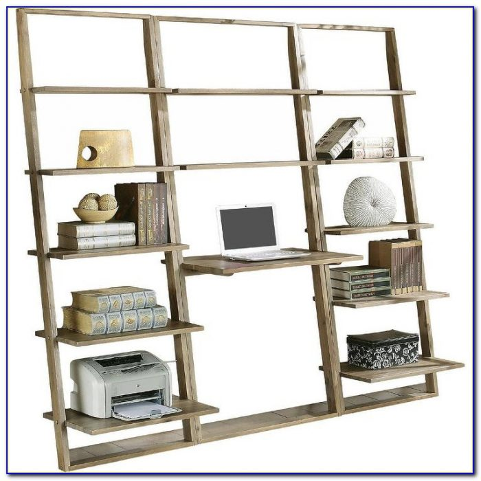 Crate And Barrel Leaning Desk Bookcase