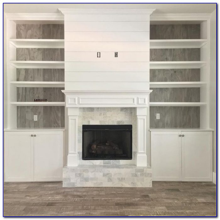 Custom Bookcase Fireplace Surround