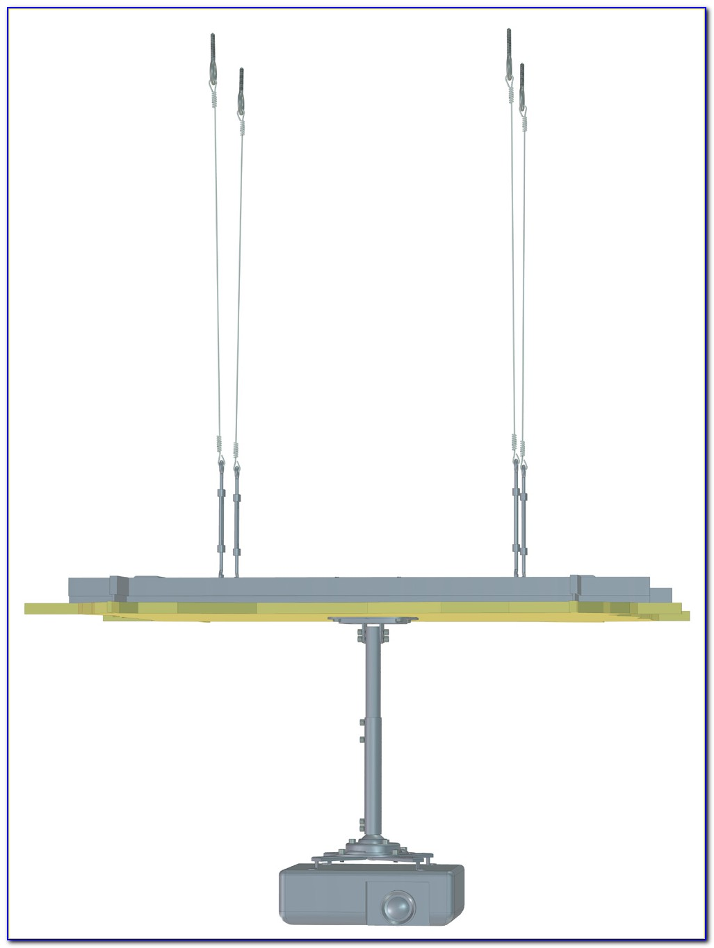 Diy Projector Mount Drop Ceiling