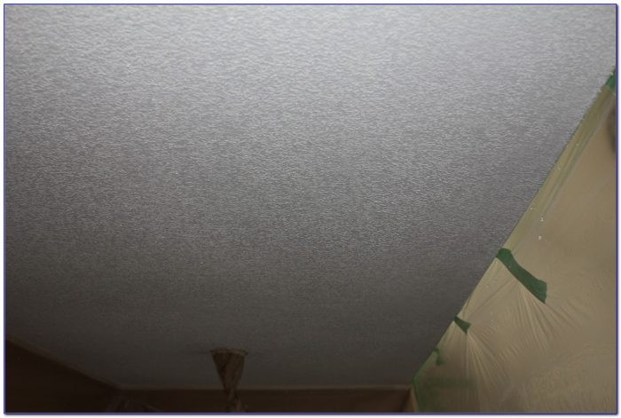 Dry Scrape Popcorn Ceiling And Paint