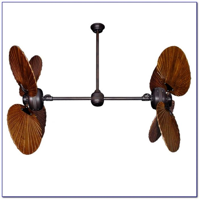 Outdoor dual oscillating ceiling fan ceiling home for Dual motor ceiling fan