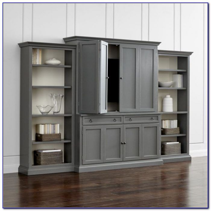 Entertainment Unit With Bookshelf