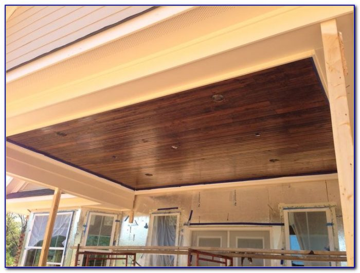 Faux Wood Tongue And Groove Ceiling