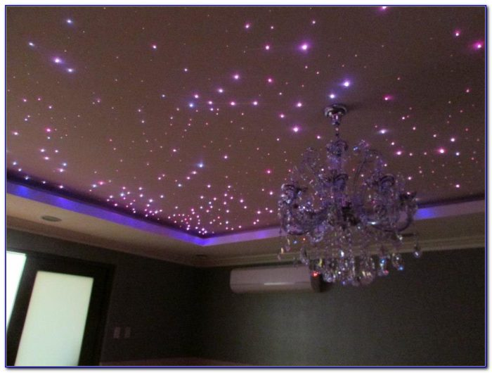 Fiber Optic Ceiling Lighting Installation