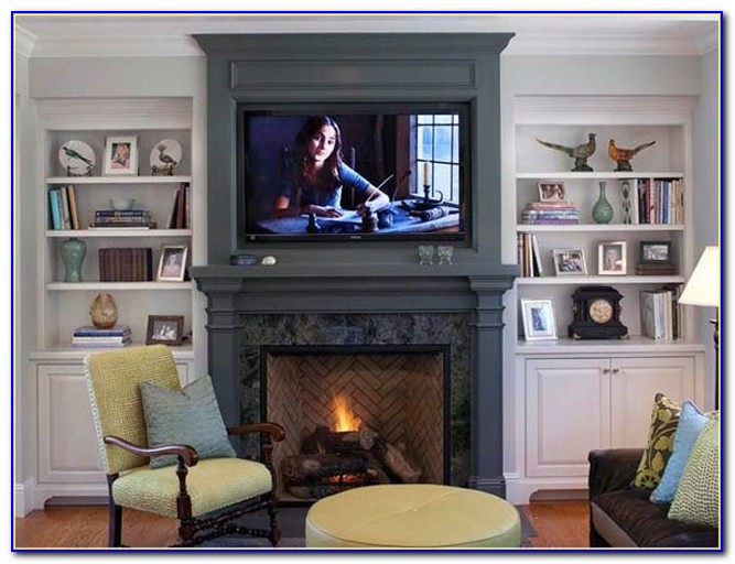 Fireplace Mantels Built Bookcases